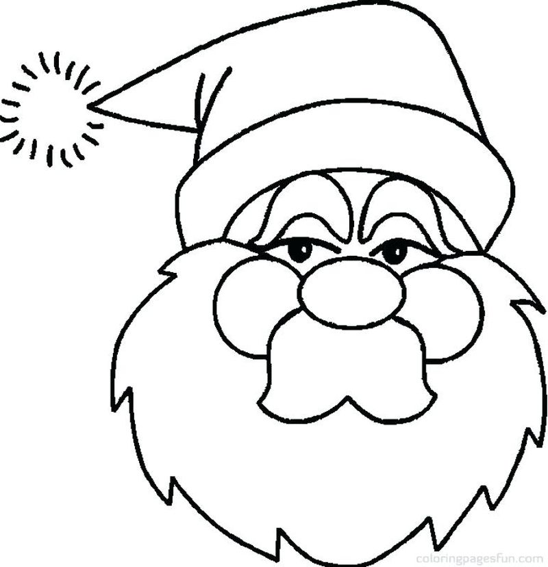 Santa Claus Colouring Pages
