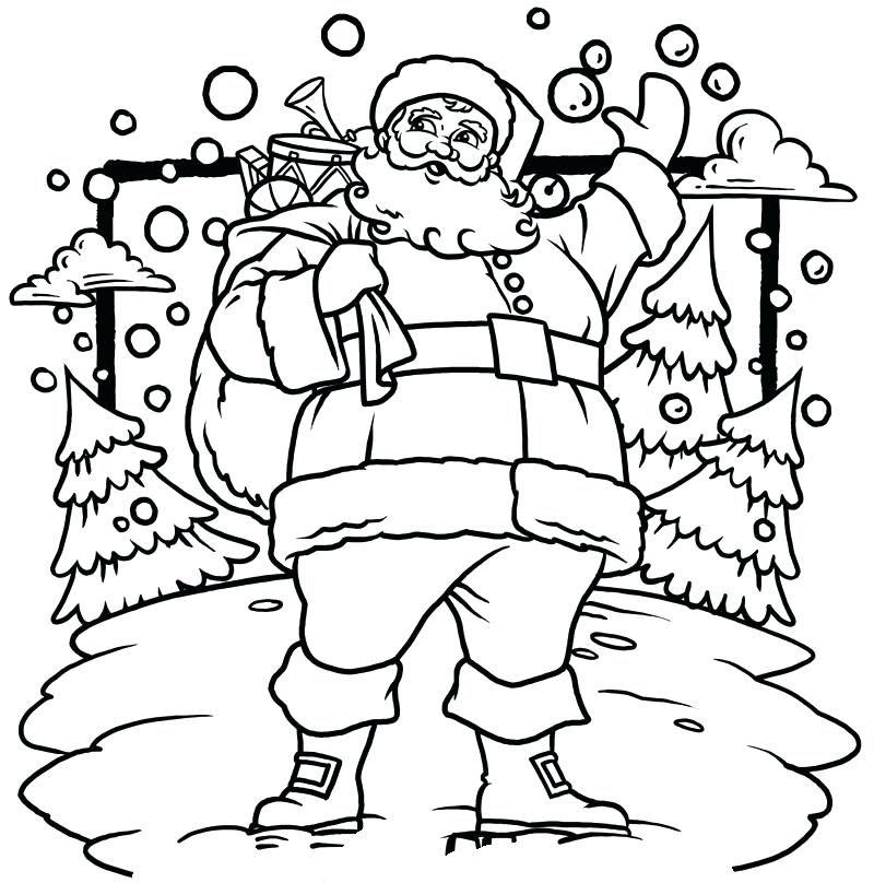 Santa Claus In Sleigh Coloring Page