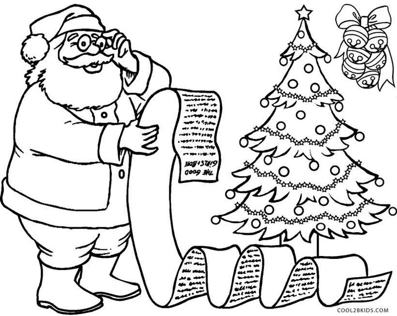 Santa Claus In The Night Christmas Coloring Pages