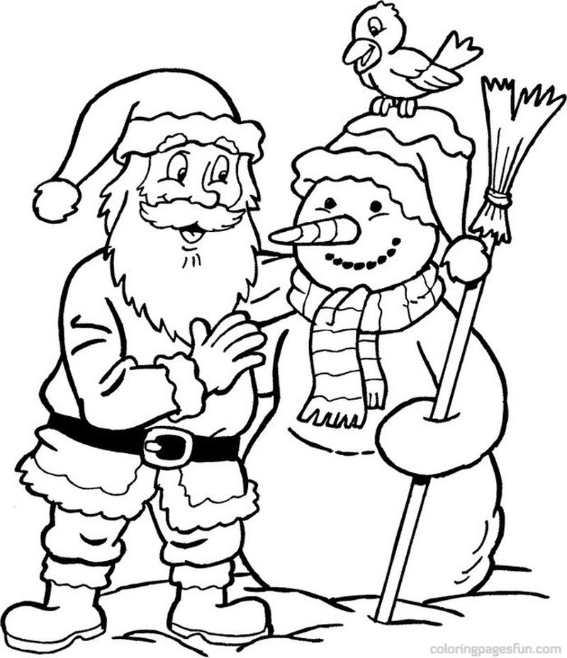 Santa Claus Is Coming To Town Coloring Pages