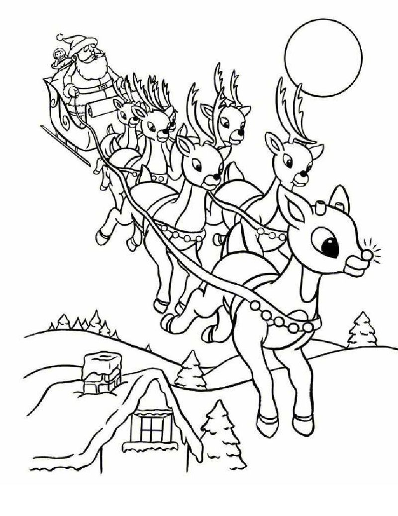 Santa Claus Is Coming To Town Movie Coloring Pages
