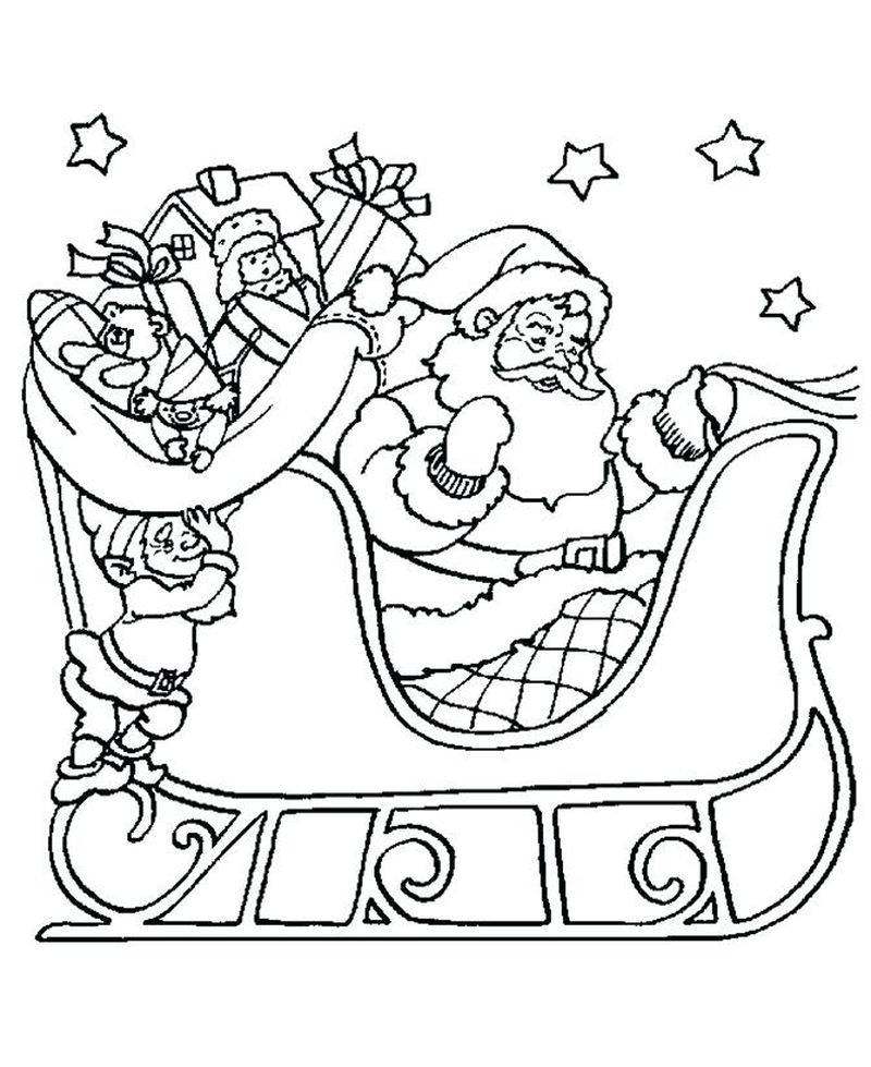 Santa Claus Laughing Like A Bowl Full Of Jelly Coloring Pages