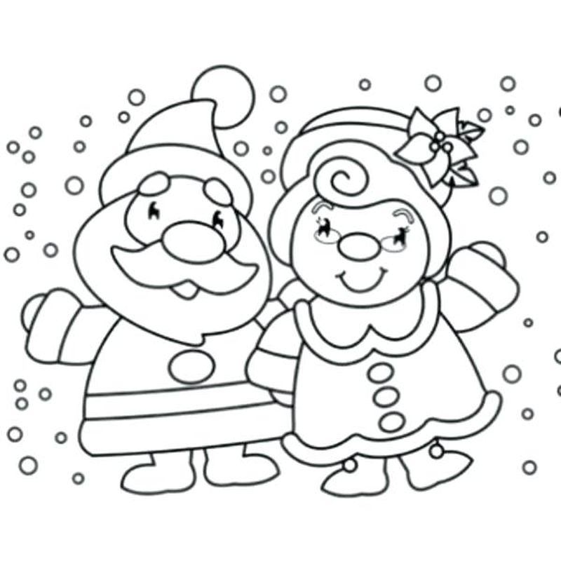 Santa Claus With Teddy Bear Coloring Pages