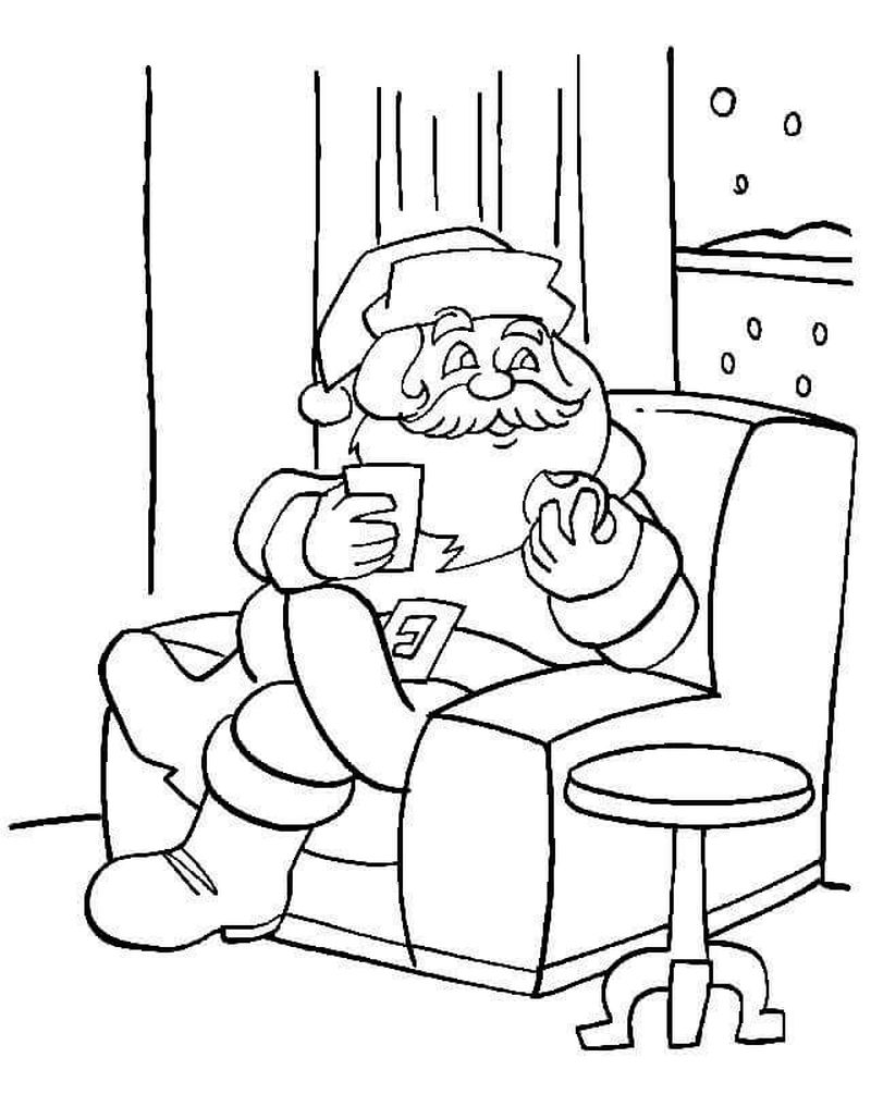 Santa Claus With Tim Allen Coloring Pages