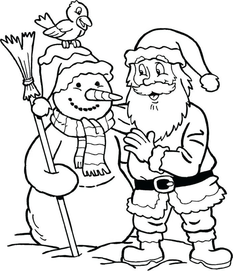 Santa Mrs Claus And Reindeer Coloring Pages