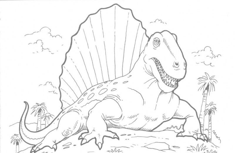 Scary Dinosaur Coloring Pages
