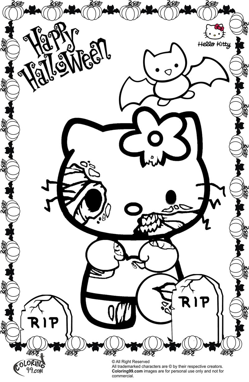 Scary Halloween Coloring Book Pages