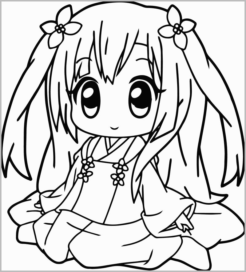 Sexy Anime Girl Coloring Pages Printable