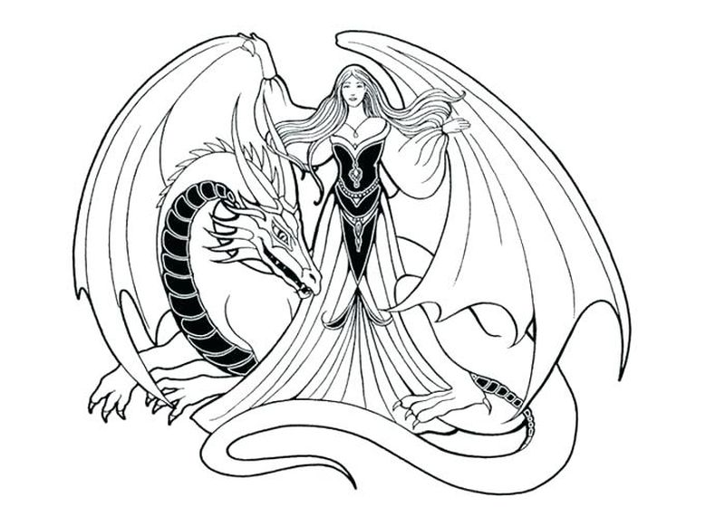 Sharpie Dragon Eye Coloring Page