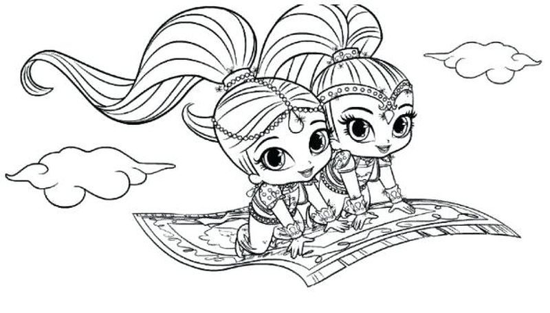 Shimmer And Shine Coloring Page Printable