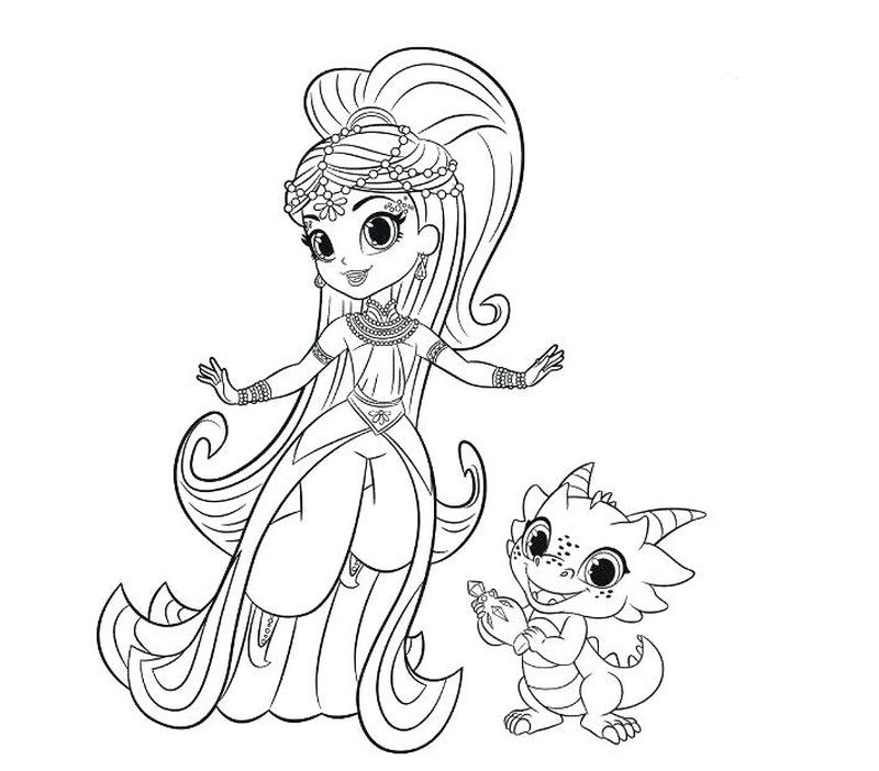 Shimmer And Shine Coloring Pages Nick Jr