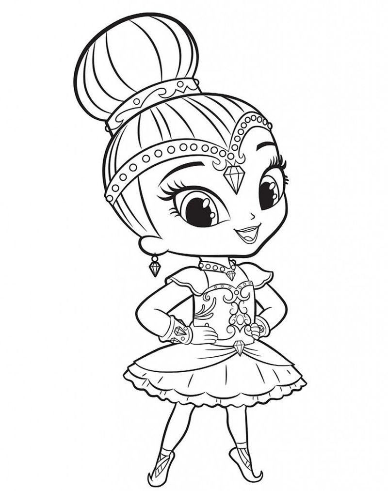 Shimmer And Shine Coloring Pages Online