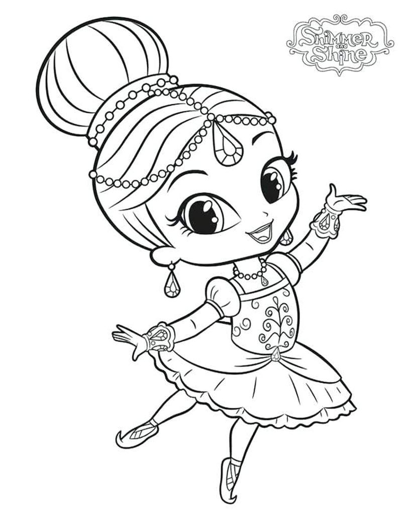 Shimmer And Shine Coloring Pages Printables