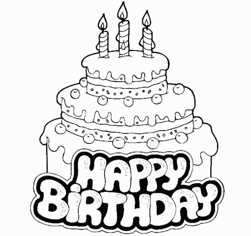 Shopkins Birthday Cake Coloring Page