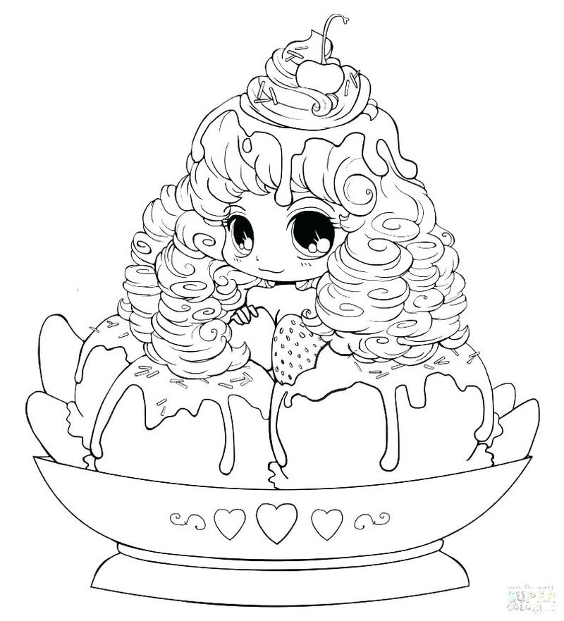 Shy New Anime Girl Coloring Pages