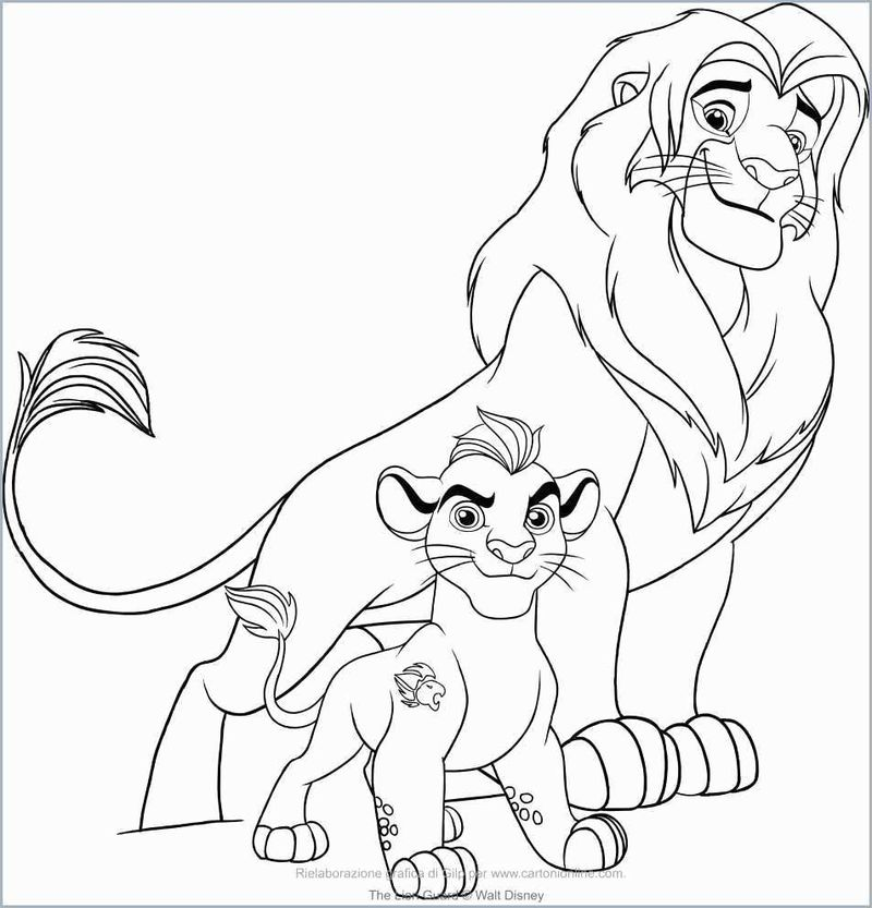 Simba Lion King Coloring Pages