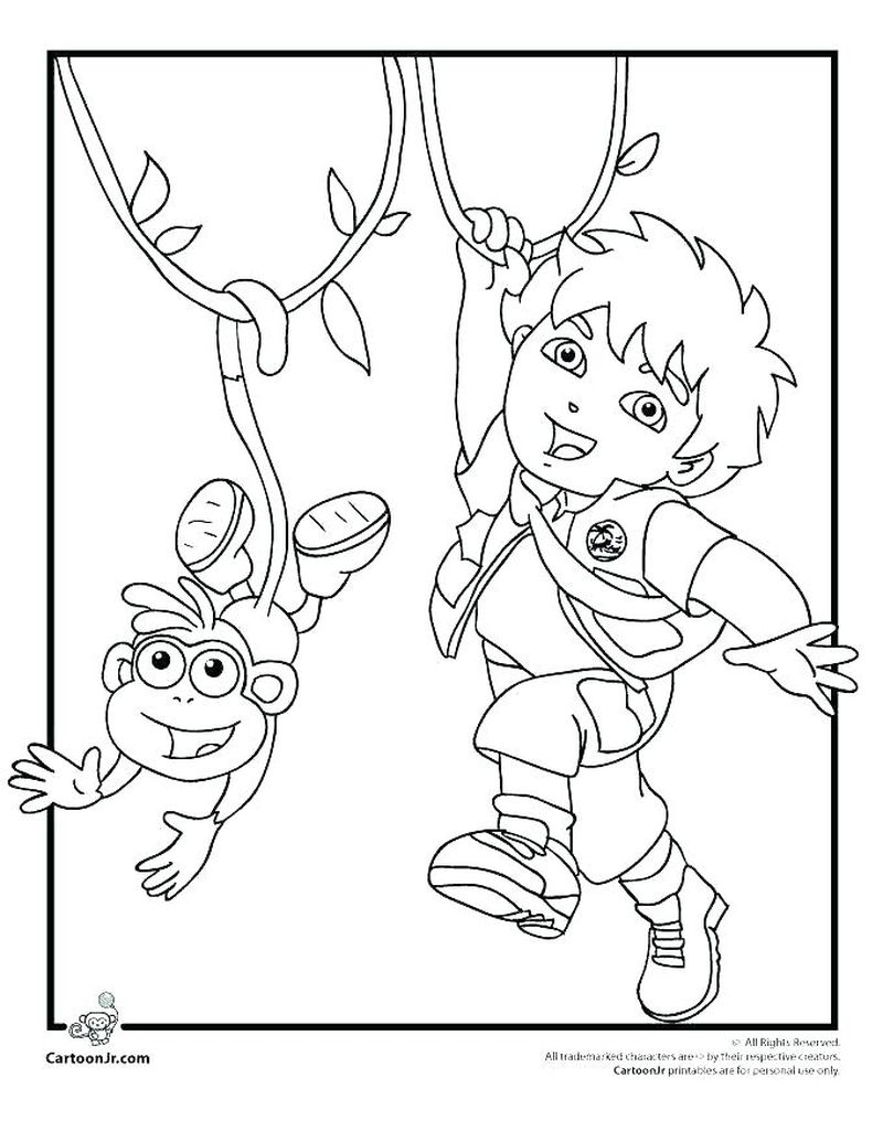 Simple Diego Coloring Pages