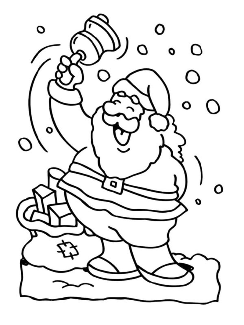 Simple For Babies Santa Claus Clipart Coloring Pages Printable