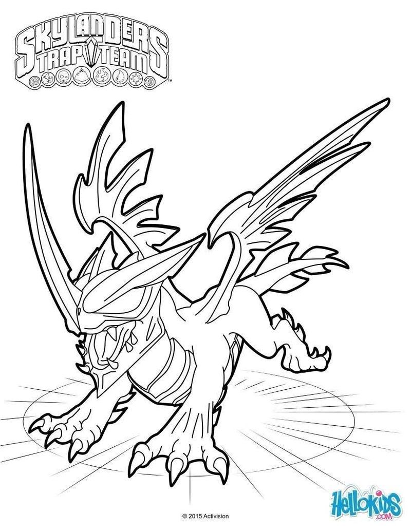Skylanders Colouring In Pages