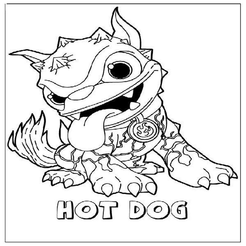 Skylanders Colouring Pages To Print