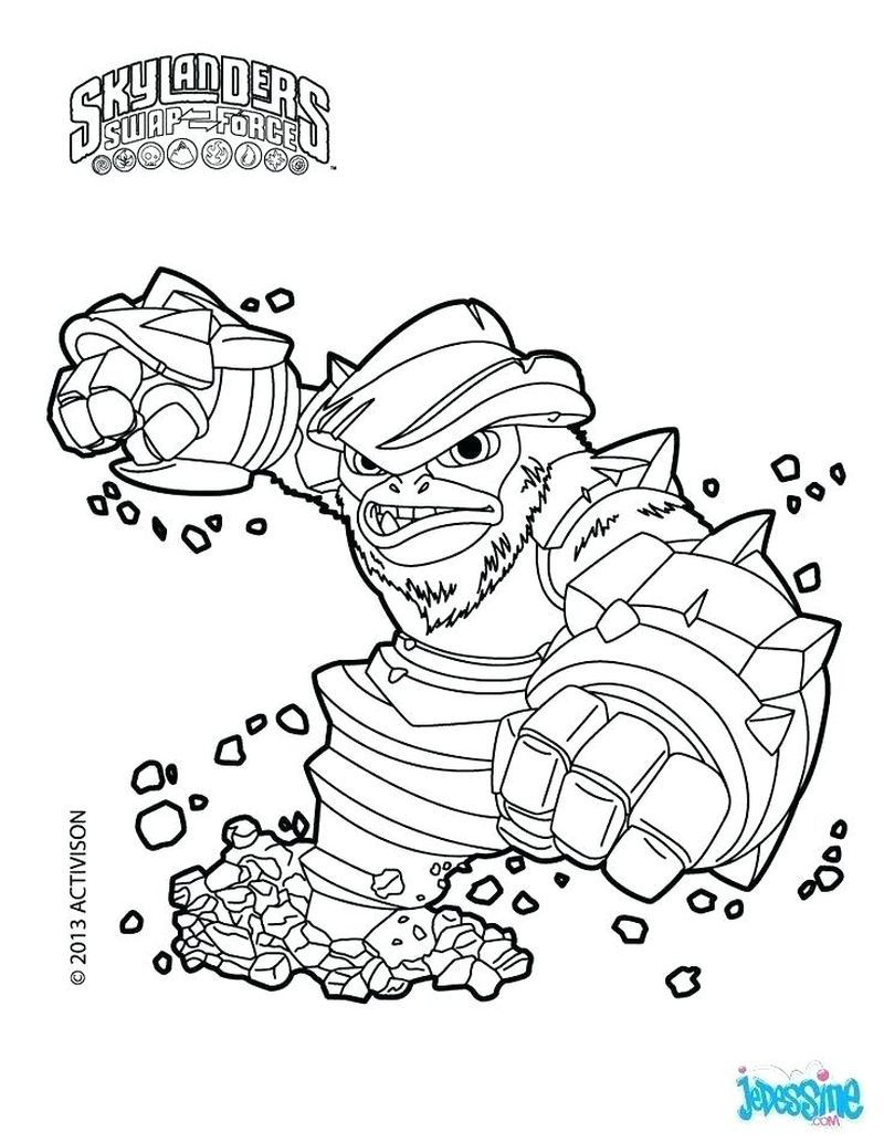 Skylanders Wrecking Ball Coloring Pages