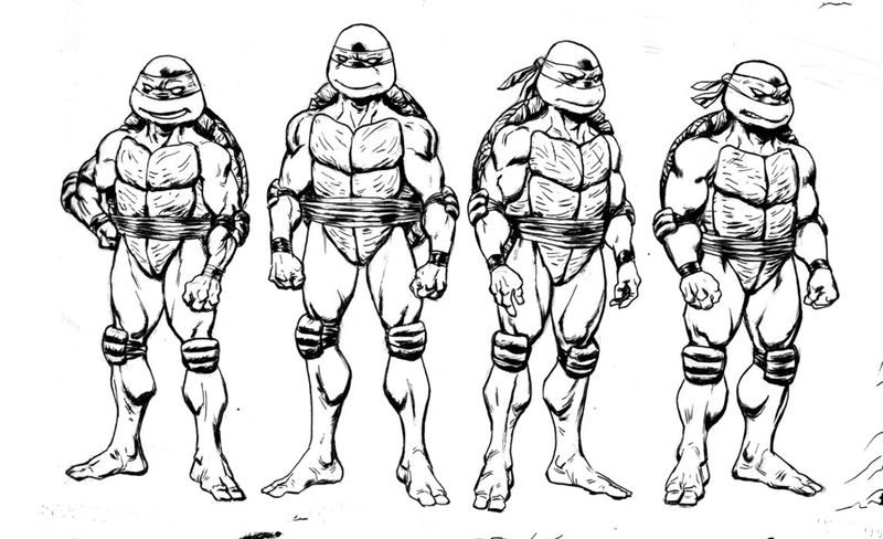 Small Ninja Turtles Coloring Pages