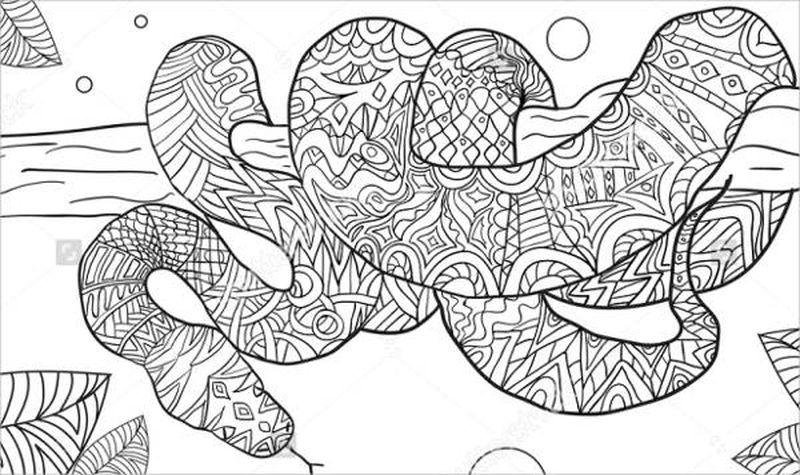 Snake Colouring Pages Free