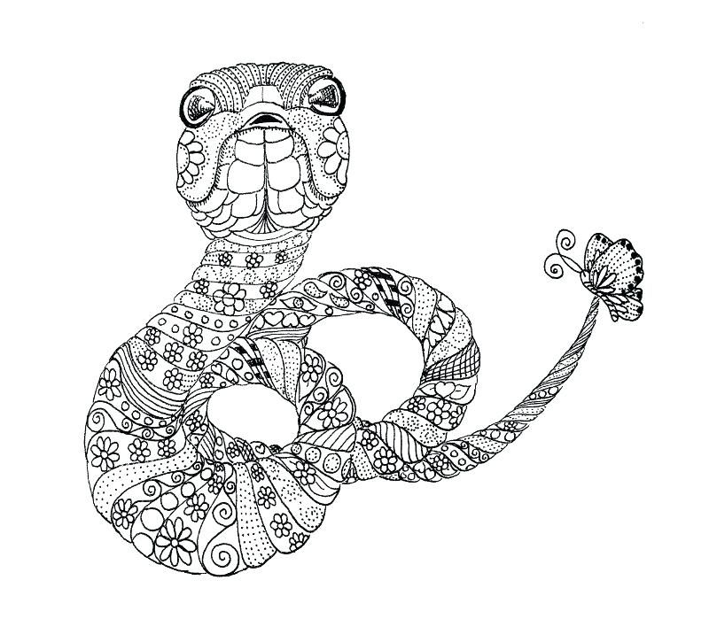 Snake Face Coloring Page