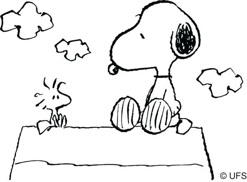 Snoopy Camping Coloring Pages