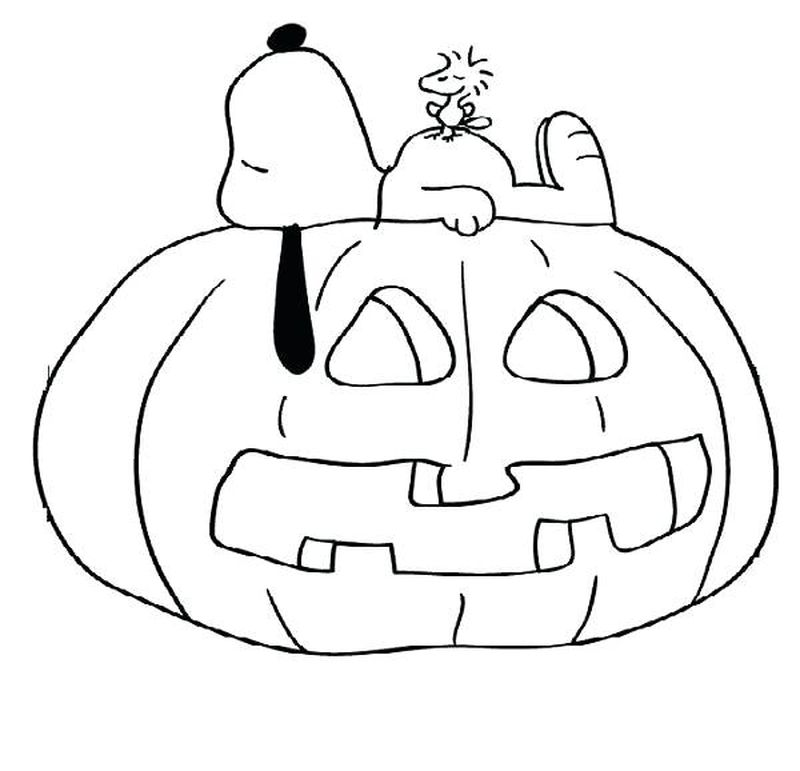 Snoopy Coloring Pages For Toddlers