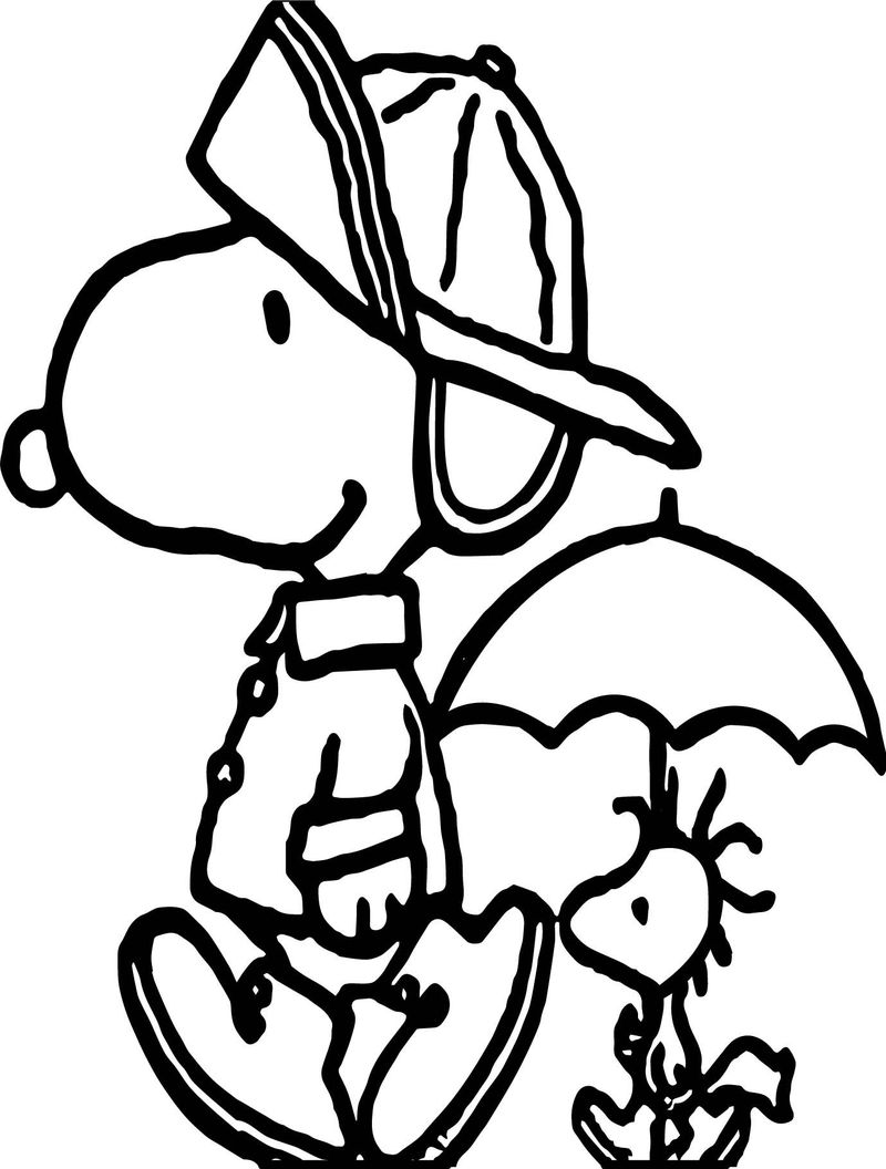 Snoopy Coloring Pages Halloween