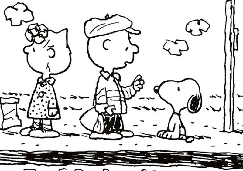 Snoopy Colouring Pages Free