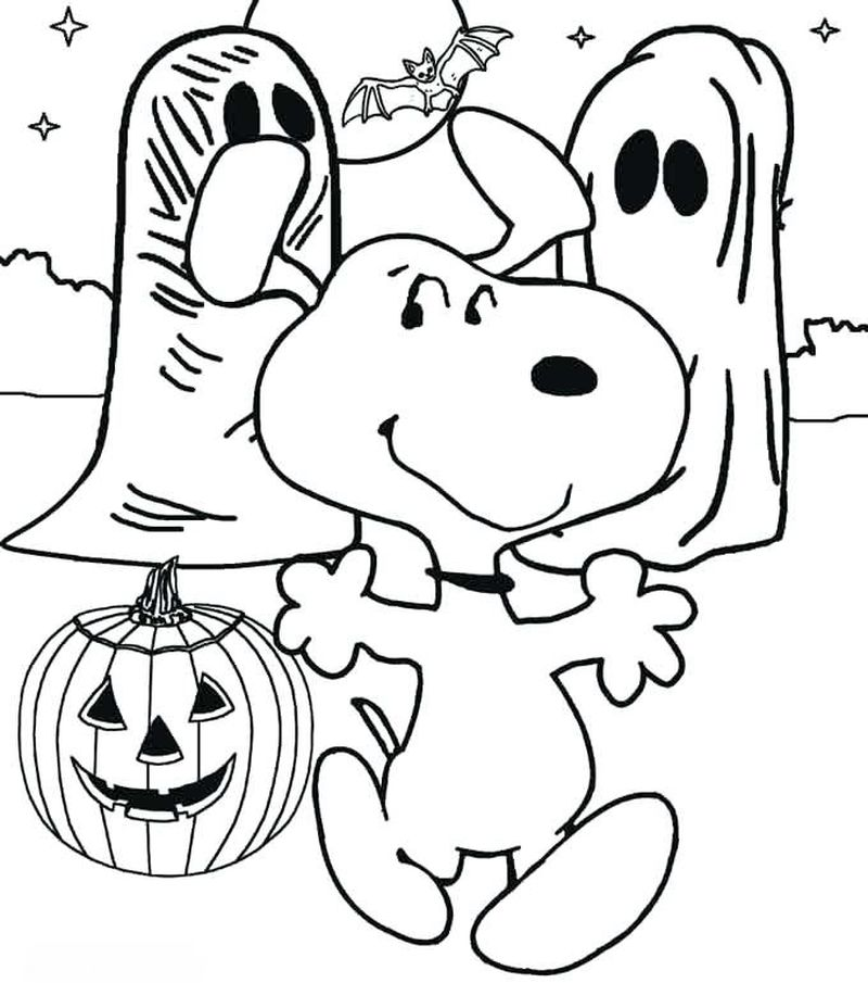 Snoopy Colouring Pictures