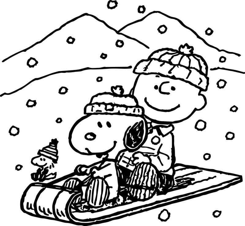 Snoopy Halloween Coloring Pages Free