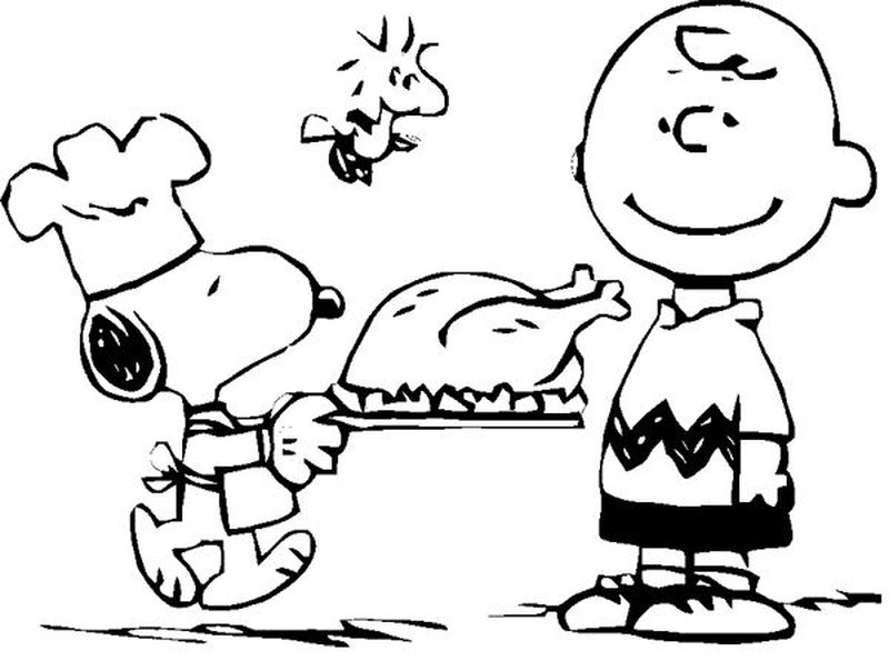 Snoopy On Dog House Coloring Page
