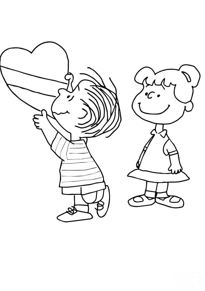 Snoopy Peanuts Coloring Page