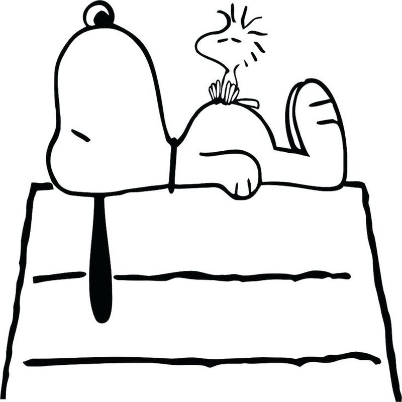 Snoopy Pumpkin Coloring Pages