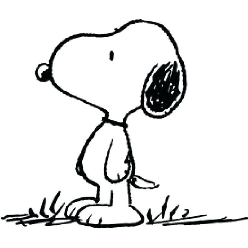 Snoopy Spring Coloring Pages