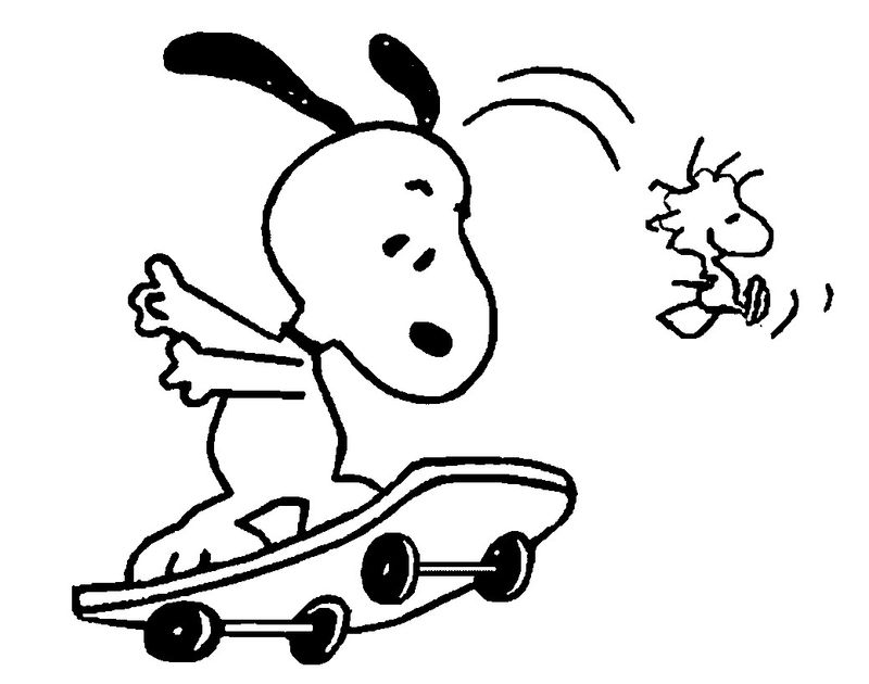Snoopy Summer Coloring Pages