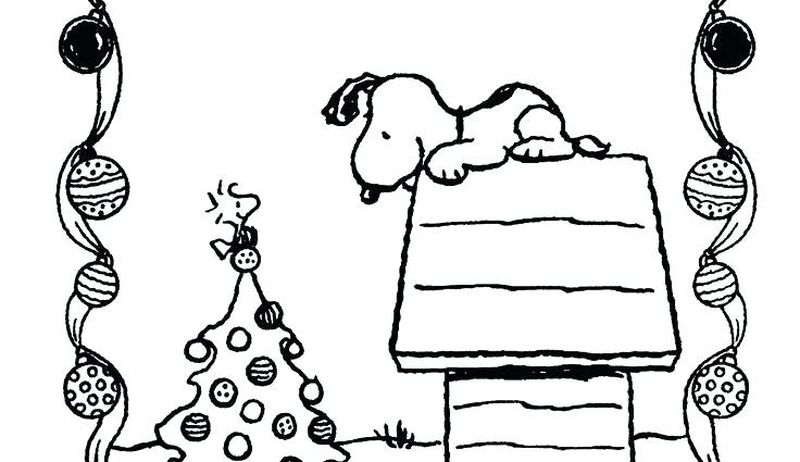 Snoopy Thanksgiving Coloring Page