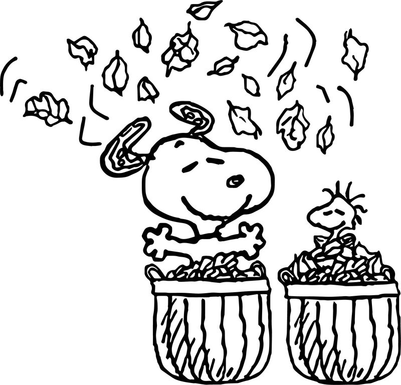 Snoopy Woodstock Christmas Coloring Pages