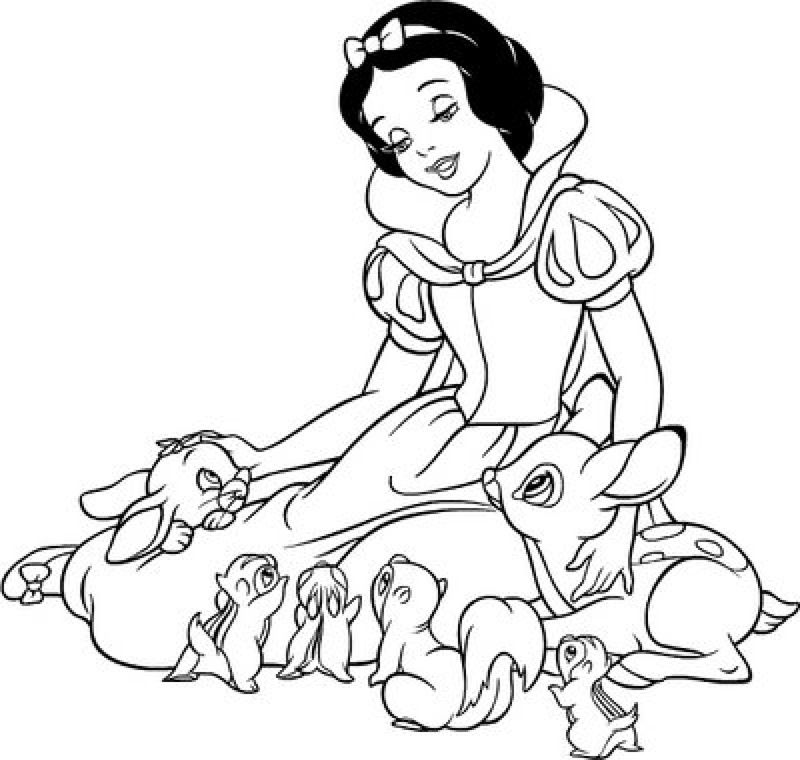 Snow White And The Huntsman Coloring Page