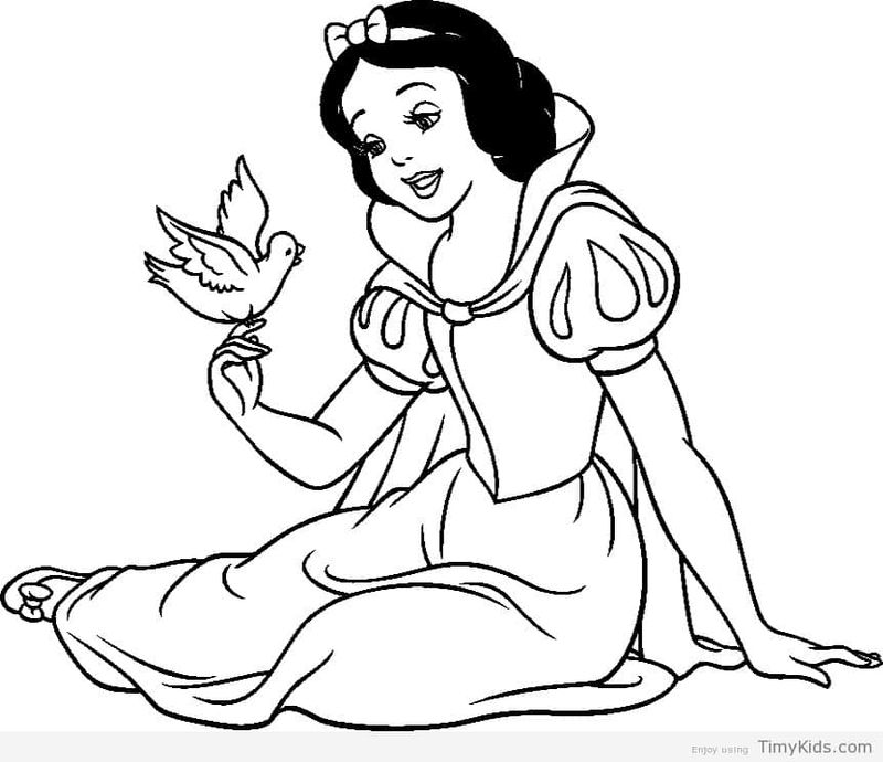 Snow White And The Witch Coloring Pages