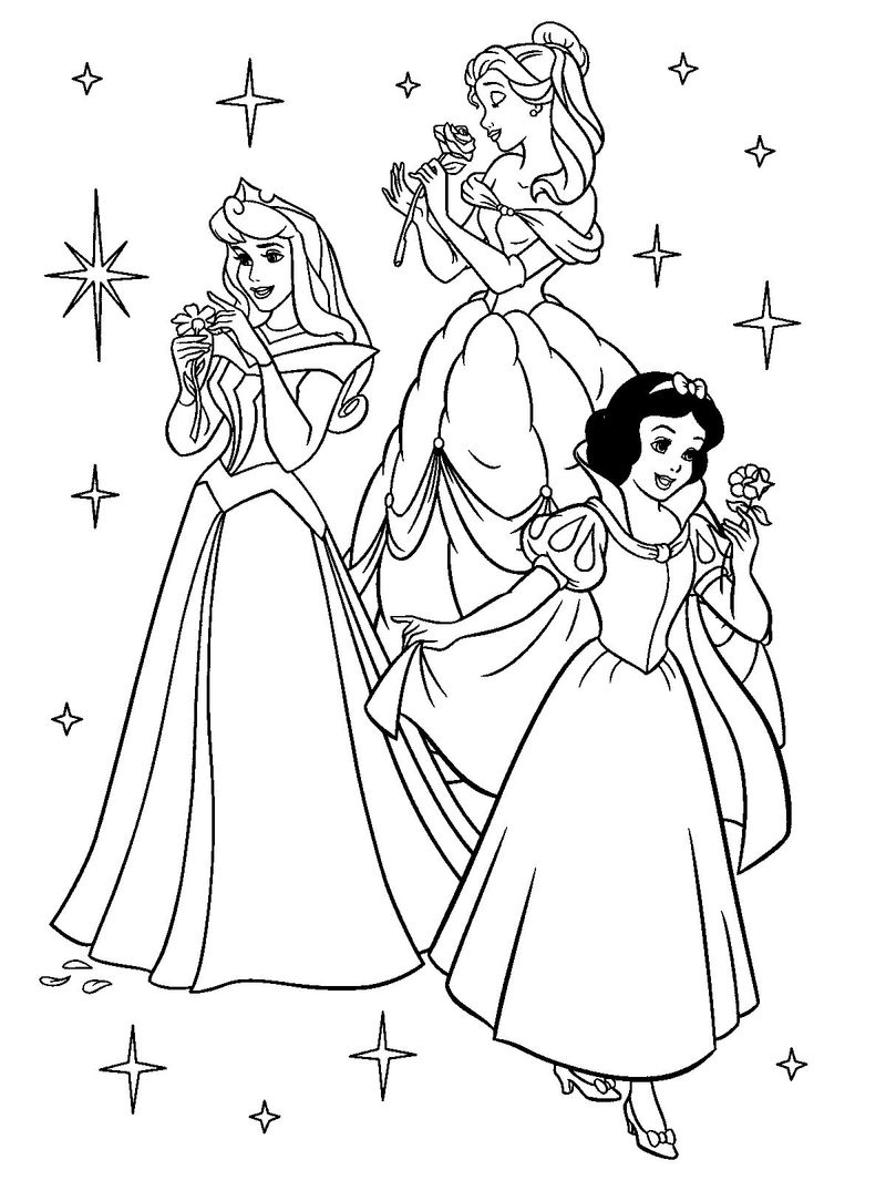Snow White Christmas Coloring Pages