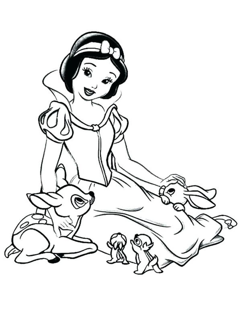Snow White Coloring Page Printable