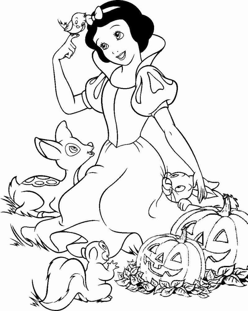 Snow White Coloring Pages Easy