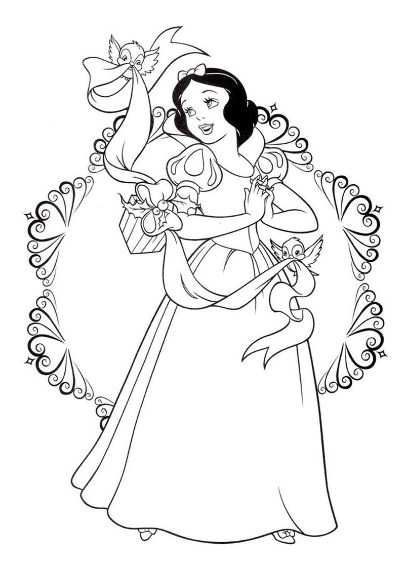 Snow White Coloring Pictures To Print