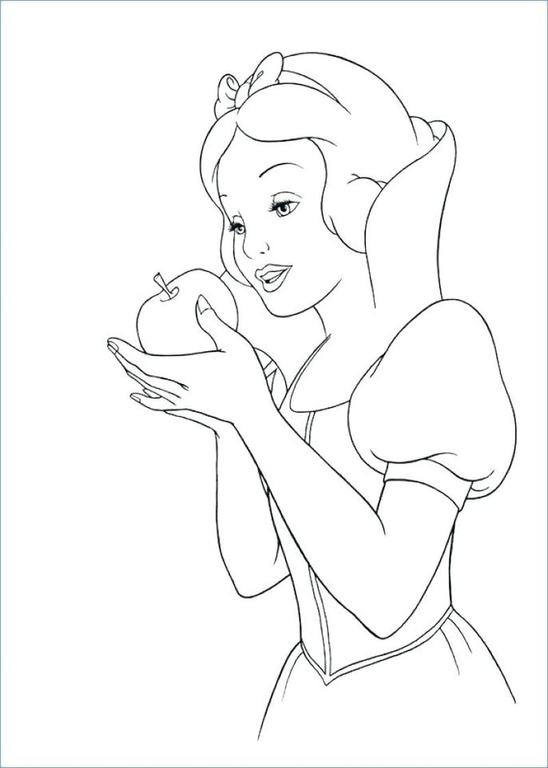 Snow White Coloring Sheets Printable