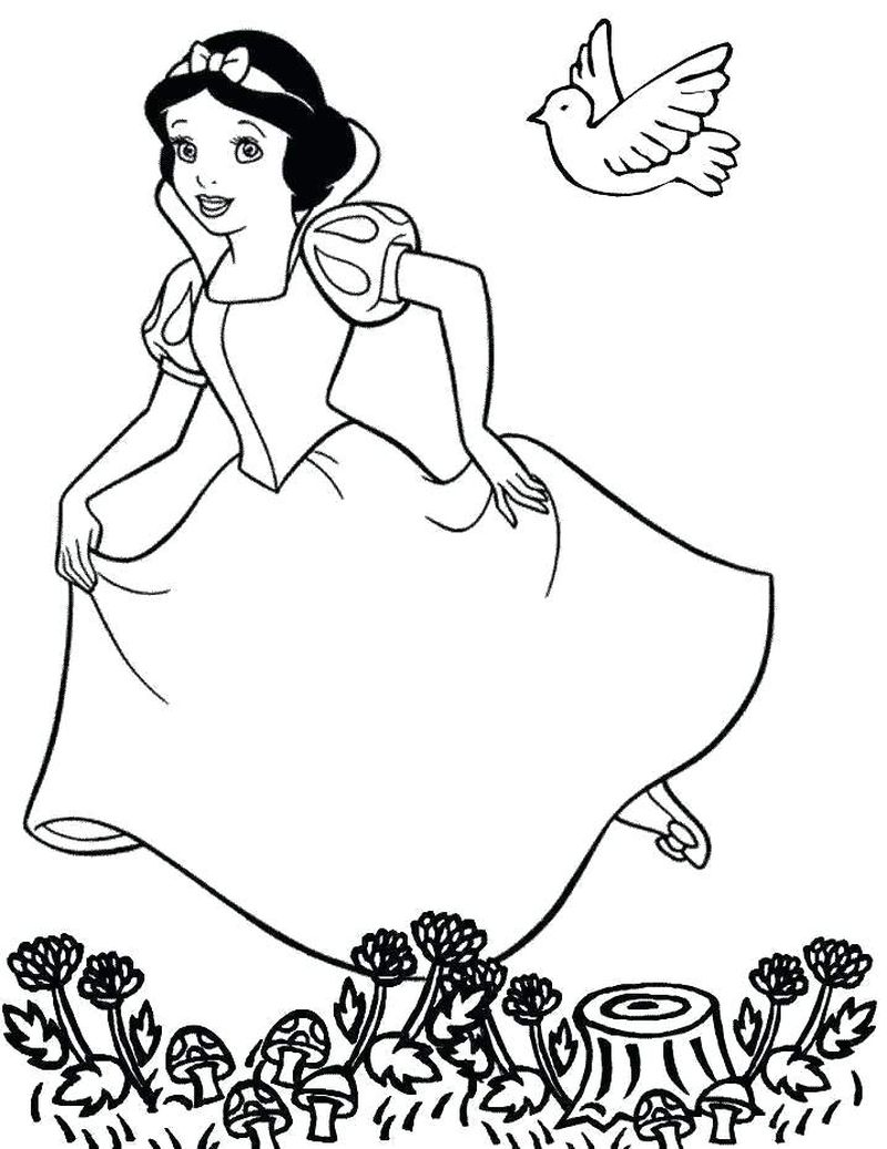 Snow White Colouring Book