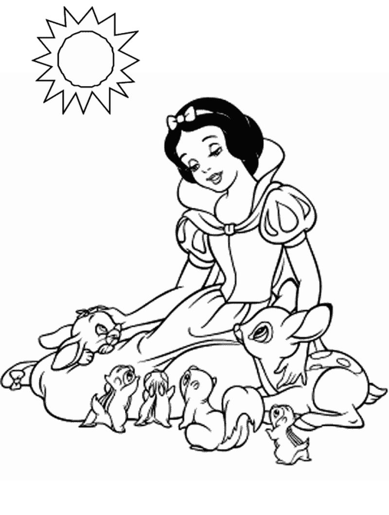 Snow White Cottage Coloring